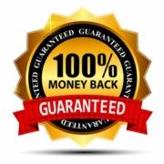 100% money back guarantee.